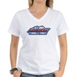 American Born and Bred Women's V-Neck T-Shirt