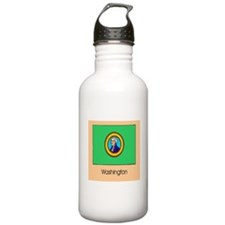 Washington State Flag Water Bottle