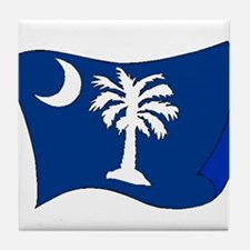 South Carolina State Flag Tile Coaster