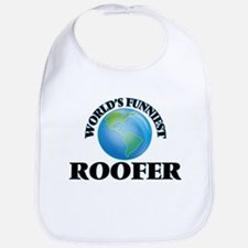 World's Funniest Roofer Bib