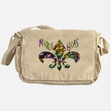 Mardi Gras Fleur Messenger Bag