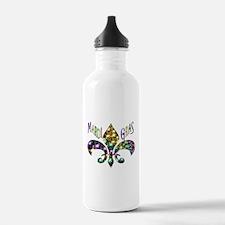 Mardi Gras Fleur Water Bottle