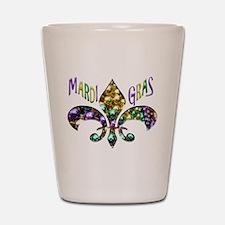Mardi Gras Fleur Shot Glass