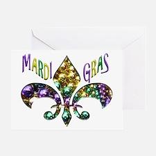Mardi Gras Fleur Greeting Cards