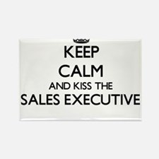 Keep calm and kiss the Sales Executive Magnets