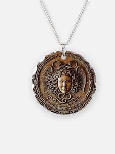 Greek Shield Medusa Necklace