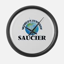 World's Funniest Saucier Large Wall Clock