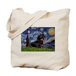 Starry Night Dachshund Tote Bag