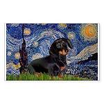 Starry Night Dachshund Sticker (Rectangle)