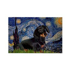 Starry Night Dachshund Rectangle Magnet (10 pack)