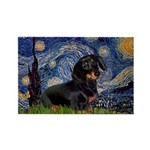 Starry Night Dachshund Rectangle Magnet