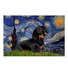Starry Night Dachshund Postcards (Package of 8)