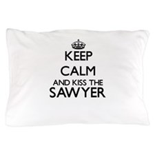 Keep calm and kiss the Sawyer Pillow Case