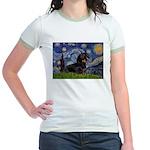 Starry Night Dachshund Jr. Ringer T-Shirt
