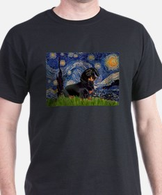 Starry Night Dachshund T-Shirt