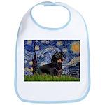 Starry Night Dachshund Bib