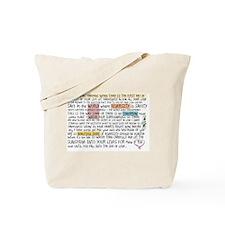 Diversity Wall Text Tote Bag