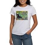Irises & Dachshund (BT4) Women's T-Shirt