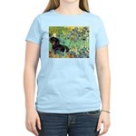Irises & Dachshund (BT4) Women's Light T-Shirt
