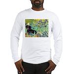 Irises & Dachshund (BT4) Long Sleeve T-Shirt