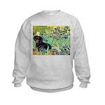 Irises & Dachshund (BT4) Kids Sweatshirt