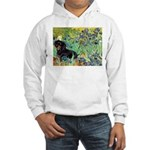 Irises & Dachshund (BT4) Hooded Sweatshirt