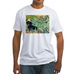Irises & Dachshund (BT4) Fitted T-Shirt