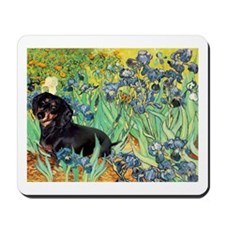 Irises & Dachshund (BT4) Mousepad