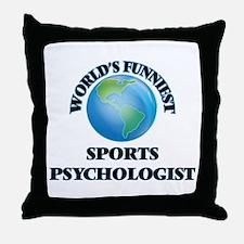 World's Funniest Sports Psychologist Throw Pillow