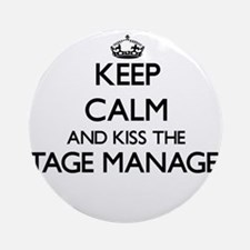 Keep calm and kiss the Stage Mana Ornament (Round)