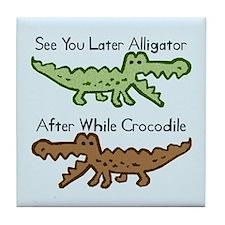 Alligator and Crocodile Tile Coaster