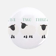 """One Two Three Sheep 3.5"""" Button"""