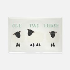 One Two Three Sheep Magnets