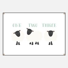 One Two Three Sheep Banner