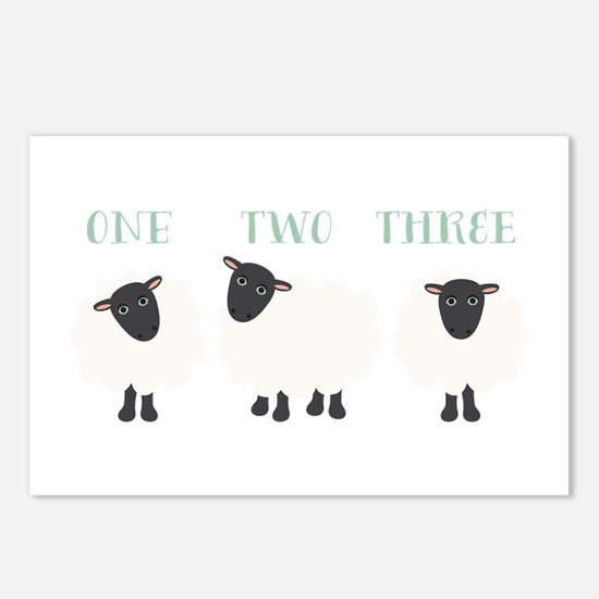 One Two Three Sheep Postcards (Package of 8)