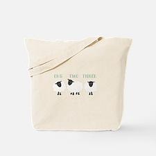 One Two Three Sheep Tote Bag