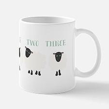 One Two Three Sheep Mugs