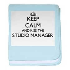 Keep calm and kiss the Studio Manager baby blanket