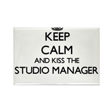 Keep calm and kiss the Studio Manager Magnets
