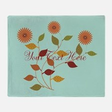 Cute Daisies Mint Throw Blanket