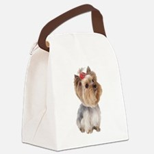 Yorkie Portrait Canvas Lunch Bag