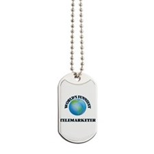 World's Funniest Telemarketer Dog Tags