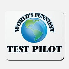 World's Funniest Test Pilot Mousepad
