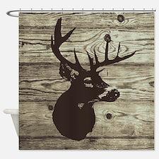 Deer Head Hunter Country Shower Curtain