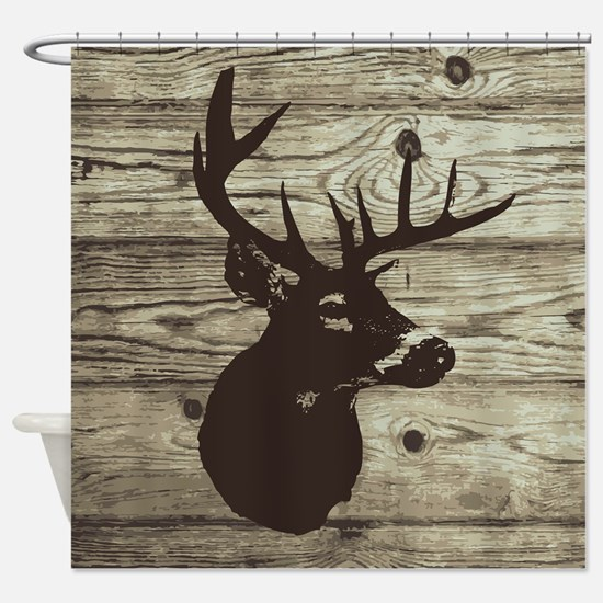 Deer Head Hunter Country Shower Curtain