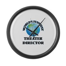 World's Funniest Theater Director Large Wall Clock