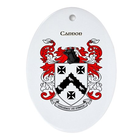 Cannon Coat of Arms Oval Ornament