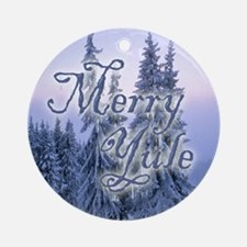 Merry Yule Ornament (Round)