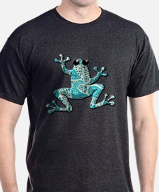 Turquoise White Frog T-Shirt