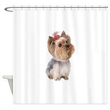 Yorkie Portrait Shower Curtain